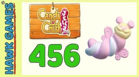 Candy Crush Jelly Saga Level 456 (Puffler mode) - 3 Stars Walkthrough, No Boosters