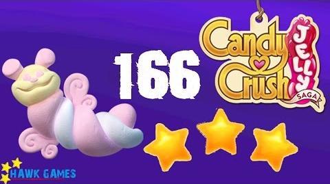 Candy Crush Jelly - 3 Stars Walkthrough Level 166 (Puffler mode)