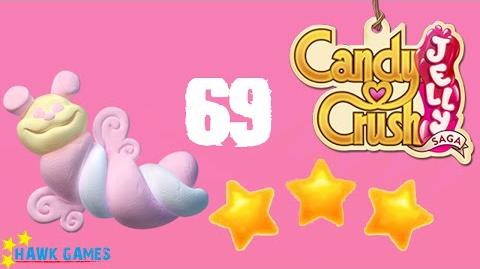 Candy Crush Jelly - 3 Stars Walkthrough Level 69 (Puffler mode)