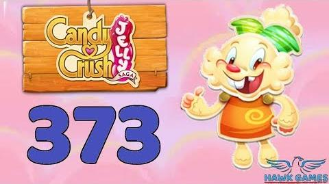 Candy Crush Jelly Saga Level 373 Super Hard (Jelly mode) - 3 Stars Walkthrough, No Boosters