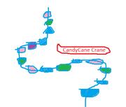 Candycane crane