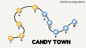 Candy Town Cyan Map