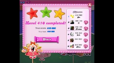 Candy Crush Saga Level 410 ★★★ NO BOOSTER - NEW