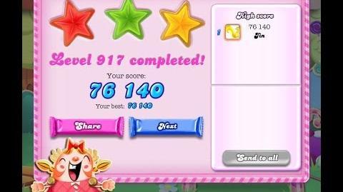 Candy Crush Saga Level 917 ★★★ NO BOOSTER