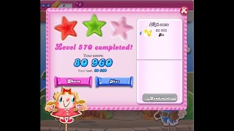Candy Crush Saga Level 570 ★★ NO BOOSTER