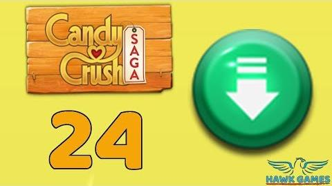 Candy Crush Saga 🎪 Level 24 (Ingredients level) - 3 Stars Walkthrough, No Boosters
