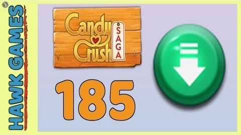 Candy Crush Saga Level 185 (Ingredients level) - 3 Stars Walkthrough, No Boosters