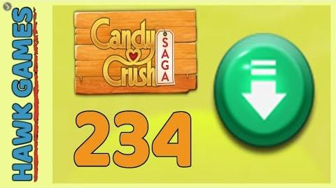 Candy Crush Saga Level 234 (Ingredients level) - 3 Stars Walkthrough, No Boosters