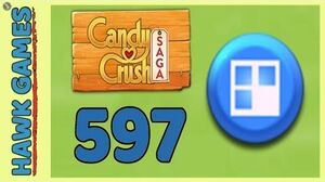 Candy Crush Saga Level 597 (Jelly level) - 3 Stars Walkthrough, No Boosters