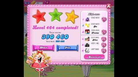 Candy Crush Saga Level 464 ★★★ NO BOOSTER