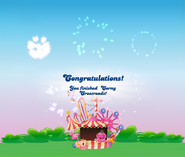 Corny Crossroads completed congratulations screen