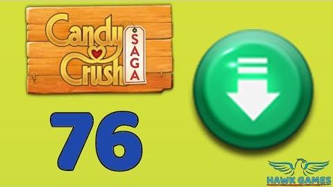 Candy Crush Saga 🎪 Level 76 Super Hard (Ingredients level) - 3 Stars Walkthrough, No Boosters