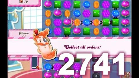 Candy Crush Saga Level 2741 (No boosters)