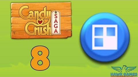 Candy Crush Saga 🎪 Level 8 (Jelly level) - 3 Stars Walkthrough, No Boosters