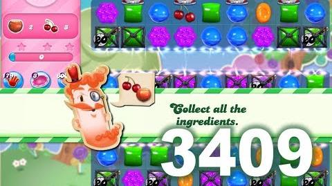 Candy Crush Saga Level 3409 (3 stars, No boosters)