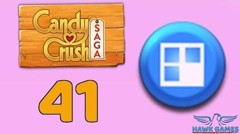 Candy Crush Saga 🎪 Level 41 (Jelly level) - 3 Stars Walkthrough, No Boosters