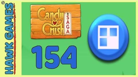 Candy Crush Saga Level 154 (Jelly level) - 3 Stars Walkthrough, No Boosters
