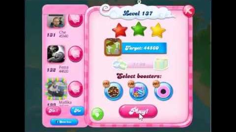Candy Crush Saga Level 137 Walkthrough No Booster, 3 Stars New Version J