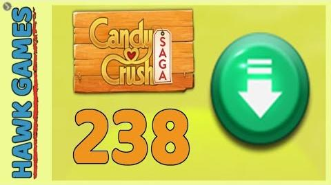 Candy Crush Saga Level 238 (Ingredients level) - 3 Stars Walkthrough, No Boosters