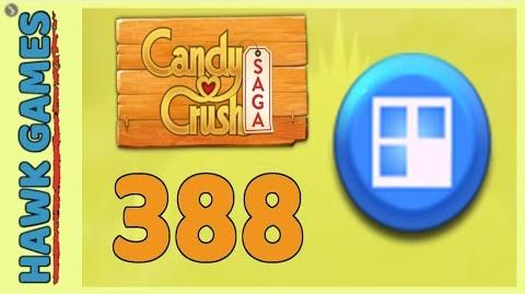 Candy Crush Saga Level 388 (Jelly level) - 3 Stars Walkthrough, No Boosters