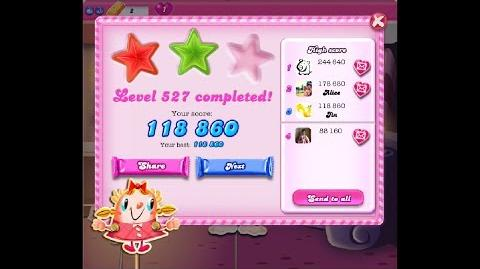 Candy Crush Saga Level 527 ★★ NO BOOSTER