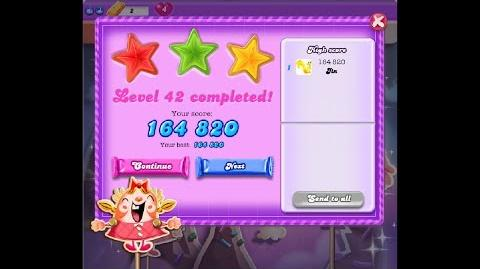 Candy Crush Saga Dreamworld Level 42 ★★★ 3 Stars