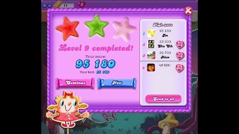 Candy Crush Saga Dreamworld Level 9 ★★ 2 Stars