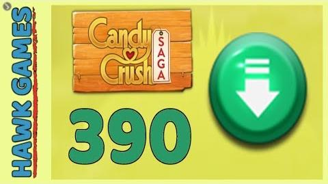 Candy Crush Saga Level 390 (Ingredients level) - 3 Stars Walkthrough, No Boosters