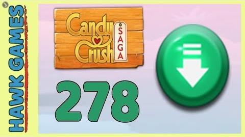 Candy Crush Saga Level 278 (Ingredients level) - 3 Stars Walkthrough, No Boosters