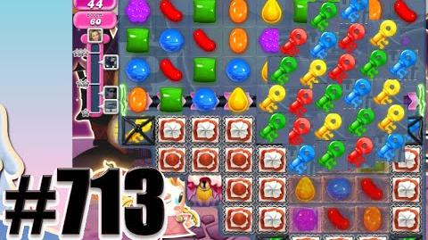 Candy Crush Saga Level 713 Complete! No Booster