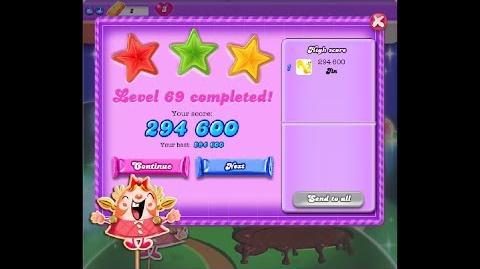 Candy Crush Saga Dreamworld Level 69 ★★★
