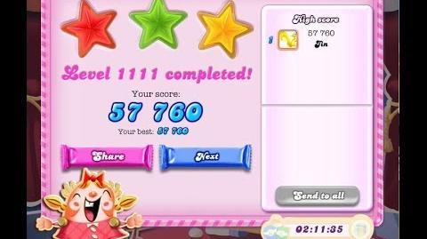 Candy Crush Saga Level 1111 ★★★ NO BOOSTER