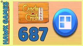 Candy Crush Saga Level 687 (Jelly level) - 3 Stars Walkthrough, No Boosters