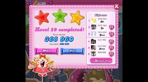 Candy Crush Saga Level 29 ★★★ NO BOOSTER NEW
