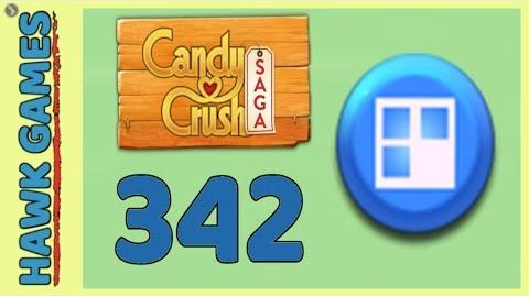 Candy Crush Saga Level 342 (Jelly level) - 3 Stars Walkthrough, No Boosters