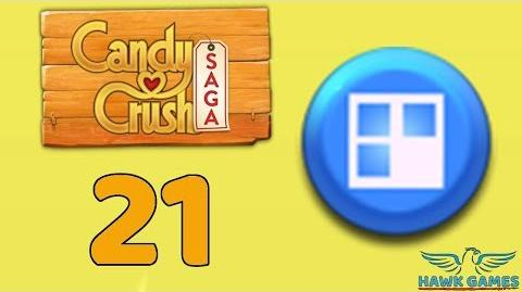 Candy Crush Saga 🎪 Level 21 (Jelly level) - 3 Stars Walkthrough, No Boosters
