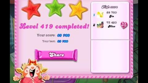 Candy Crush Saga Level 419 ★★★