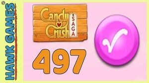 Candy Crush Saga Level 497 (Candy Order level) - 3 Stars Walkthrough, No Boosters