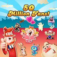 50 million likes