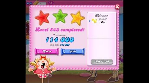 Candy Crush Saga Level 543 ★★★ NO BOOSTER