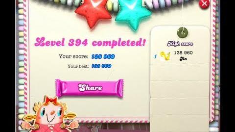 Candy Crush Saga Level 394 ★★ NO BOOSTER