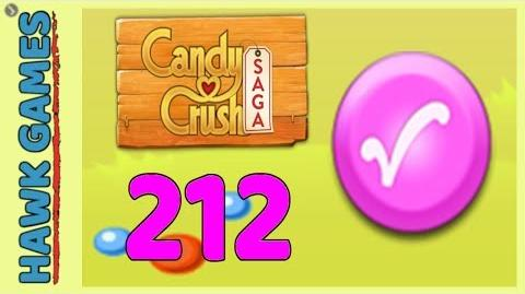 Candy Crush Saga Level 212 (Candy Order level) - 3 Stars Walkthrough, No Boosters
