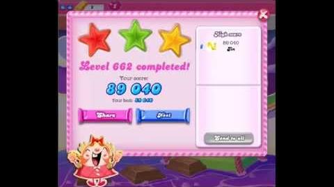 Candy Crush Saga Level 662 ★★★ NO BOOSTER