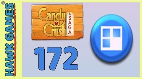 Candy Crush Saga Level 172 (Jelly level) - 3 Stars Walkthrough, No Boosters