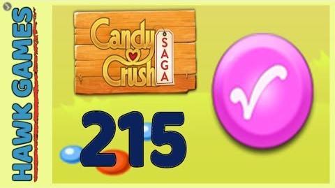 Candy Crush Saga Level 215 Super hard(Candy Order level) - 3 Stars Walkthrough, No Boosters