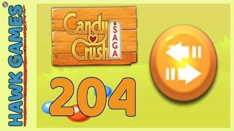 Candy Crush Saga Level 204 (Moves level) - 3 Stars Walkthrough, No Boosters