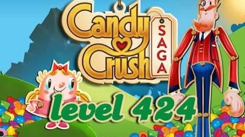 Candy Crush Saga Level 424 - ★★ - 375,240