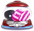 Liquorice swirl Striped candy cannon