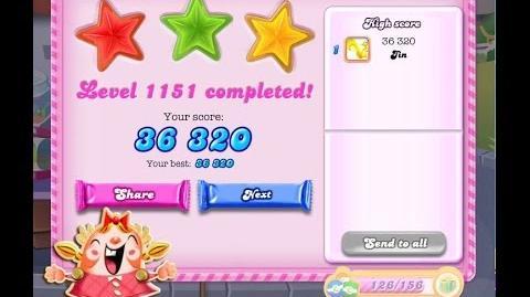 Candy Crush Saga Level 1151 ★★★ NO BOOSTER