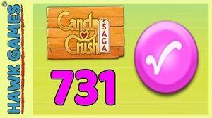 Candy Crush Saga Level 731 (Candy Order level) - 3 Stars Walkthrough, No Boosters